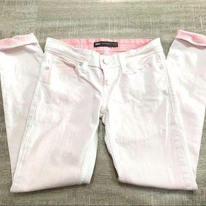 Levi's White & Pink Demi Curve Skinny Jeans